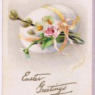 Easter Postcard Floral Bouquet Egg Stecher Litho Rochester