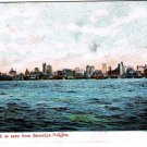 New York Postcard New York Skyline As Seen From Brooklyn Heights Early 1900s