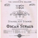 My Hero from The Chocolate Soldier Sheet Music Stanislaus Strange Oscar Straus