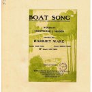 Boat Song Sheet Music Montrose Moses Harriet Ware