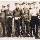 RPPC WWI Military Camp Valcartier 1914-1918 Postcard Mount Forest Boys Soldiers