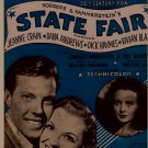 It's A Grand Night For Singing from State Fair Sheet Music Rogers & Hammerstein