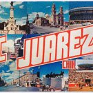 Mexico Postcard Big Letter Greetings From Juarez