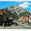 Banff Alberta Postcard Banff Avenue Stoney Squaw and Cascade Mountains