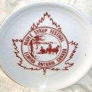 "Elmira Ontario Plate Maple Syrup Festival Eschenbach Bavaria Germany 9 1/2"""