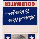 Matchbook Cover Goldwater For President 1964