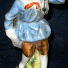 OCCUPIED JAPAN Man Boy Hunter Fur Seller Figurine