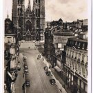 Belgium Postcard Brussels Cathedral & St Gudule Street Old Cars