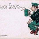 St Patrick's Day Postcard O Be Jolly Irishman Beer E B & E Undivided Back 229