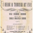 I Hear A Thrush At Eve Sheet Music Nelle Eberhard Charles Cadman