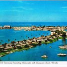 Clearwater Florida Postcard Palm Lined Causeway to Clearwater Beach Marina