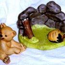Woodland Surprises  2pc Bear Franklin Mint 1984  Porcelain Signed