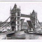 England Postcard London Tower Bridge Paddlewheel Ship