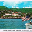 Virgin Islands Postcard St Thomas Uptown Charlotte Amalie From Coast Guard Pier