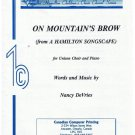 On Mountain's Brow Sheet Music from Hamilton Songscape Nancy DeVries
