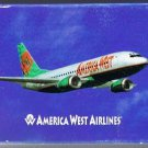 America West Airlines Playing Cards Vintage Airplane
