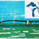 Mackinaw City St Ignace Michigan Postcard Mackinac Bridge