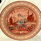 "Maling Plate Persian Scene 11 1/4"" Classic Border Pink Brown Blue Center England"