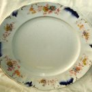 "JHW Weatherby & Sons Hanley Plate Daisies Embossed Blue Wave 10"" Made In England"