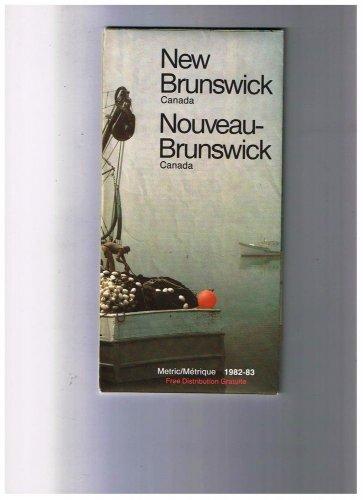 New Brunswickl Road Map 1982 Cover Fishing Boat Misty Morning