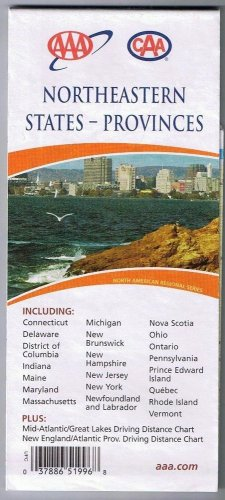 Northeastern States Provinces Road Map 2006 Cover New Haven Connecticut