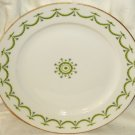 Limoges A Lanternier Dinner Plate Green Swag Garland with Blue Bells