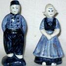 VINTAGE Delft Blau Blue Salt & Pepper Man Woman Couple