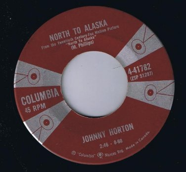 Johnny Horton North To Alaska 45 rpm The Mansion You Stole VG+
