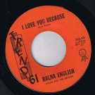 Ralna English & The Beavers I Love You Because 45 rpm First Date  Lawrence Welk