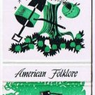 PAUL BUNYAN Matchbook Cover AMERICAN FOLKLORE Match Book Diamond