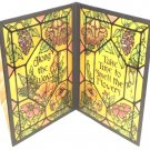 Smell The Flowers Inspirational Glass Fold Out Decoration