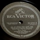 Perry Como All At Once You Love Her 78 rpm The Rose Tattoo RCA Victor
