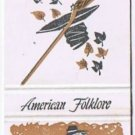 RIP VAN WINKLE Gold Matchbook Cover AMERICAN FOLKLORE Match Book Diamond