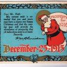 W. M. Sheridan & Company Postcard Signed Christmas 1915 Personalized
