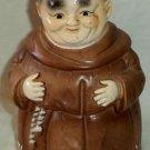 "Monk Ceramic Still Bank Thou Shalt Not Steal Giftcraft Japan 7"""