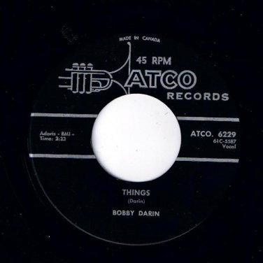 Bobby Darin Things 45 rpm Jailer Bring Me Water ATCO NM