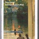 Pennsylvania Tourism & Transportation Road Map 2006 Cover Canoe on Lake
