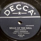 Leroy Anderson Blue Tango 78 rpm Belle Of The Ball Decca 27875