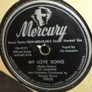 Vic Damone My Love Song 78 rpm April In Paric Mercury