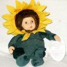 """Anne Geddes 9"""" Stuffed Sunflower Baby Doll"""