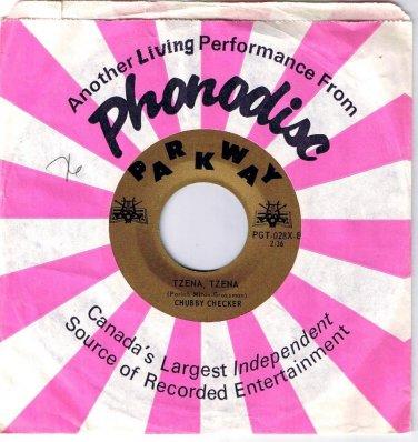 Chubby Checker Tzena Tzena 45 rpm Hey Bobba Needle Parkway Gold  NM