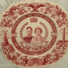 King George VI Queen Elizabeth Plate Visit to USA 1939 Royal Ivory John Maddock
