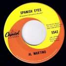 Al Martino Spanish Eyes 45 rpm Melody Of Love Capitol NM