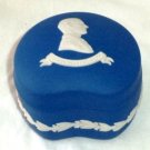Wedgwood Jasperware Trinket Box Prince Philip Duke of Edinburgh Deep Cobalt 1977