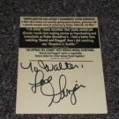 Ginger Lynn Allen signed inscribed movie ad
