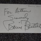 Bonnie Bartlett signed inscribed 3x5 card, actress