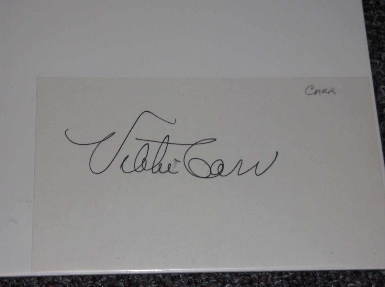 Vikki Carr signed 3x5 card