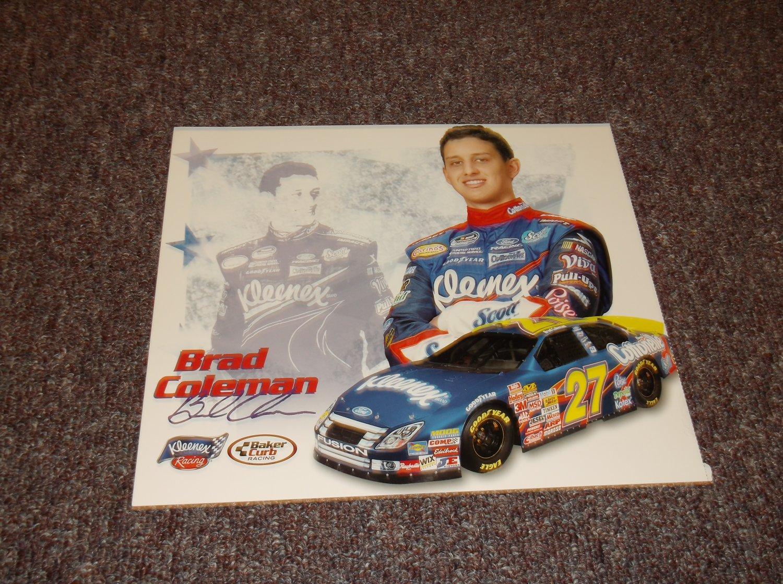 Brad Coleman signed reprint 10x8 photo, NASCAR
