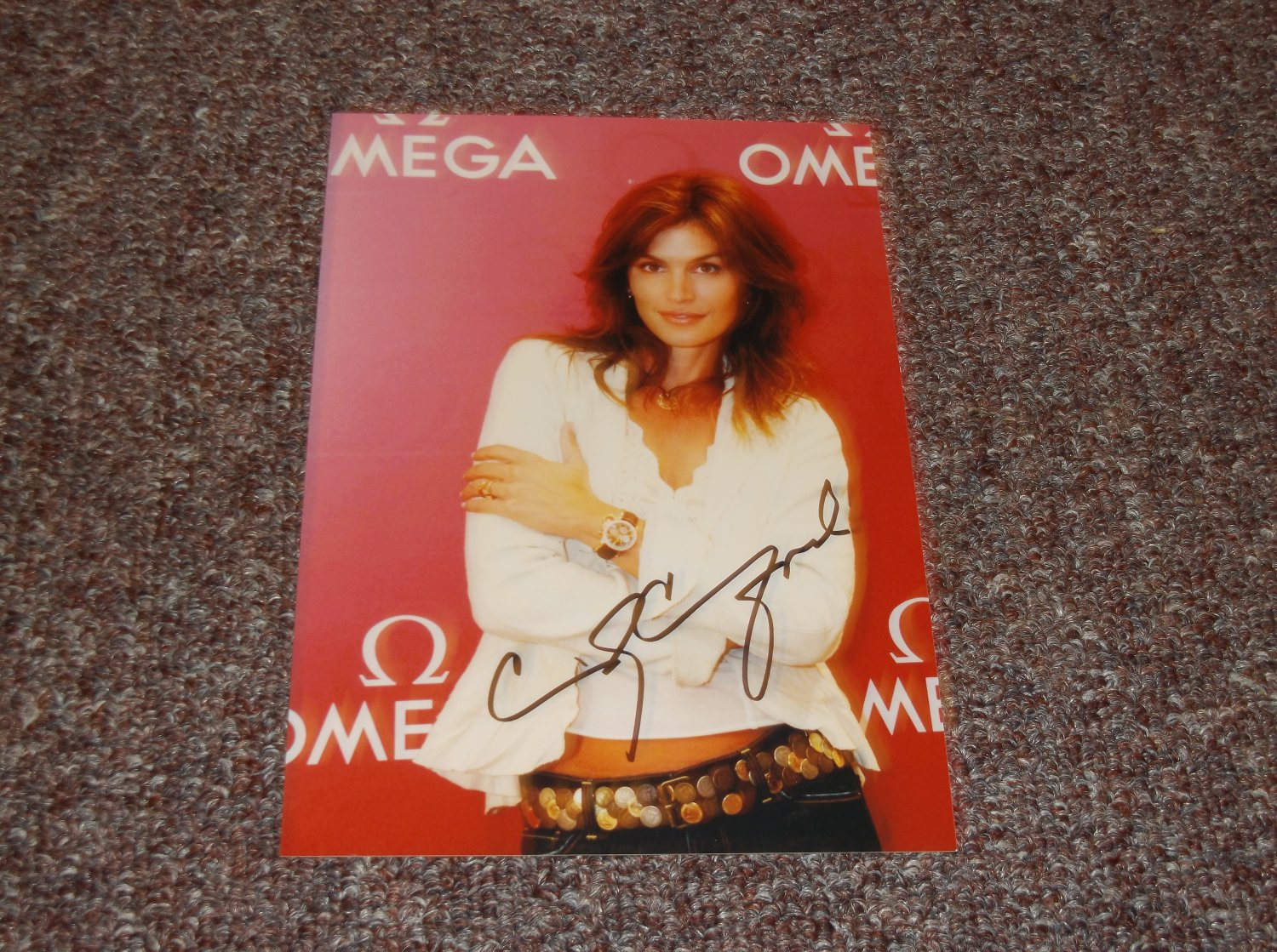 Cindy Crawford signed reprint 5x7 photo