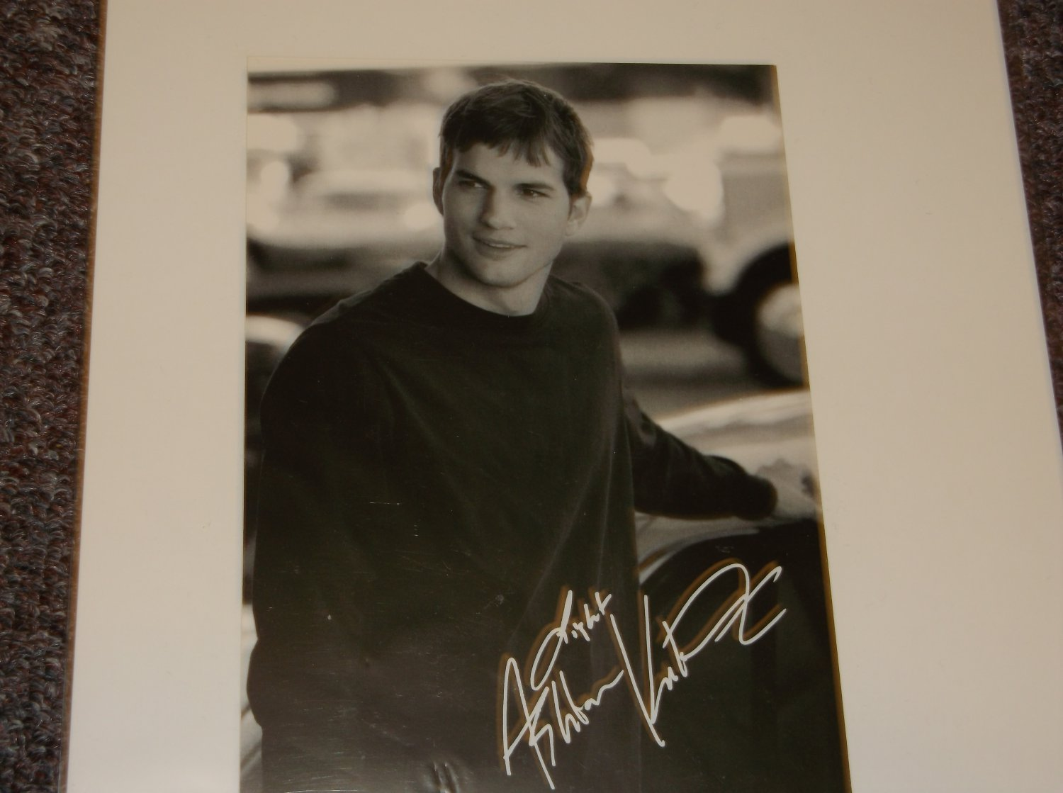 Ashton Kutcher signed reprint 5x7 photo